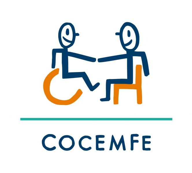 Logotipo de Confederación Española de Personas con Discapacidad Física y Orgánica (COCEMFE)